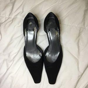 Stuart Weizmann Black Classy Kitten Heels - 6 1/2